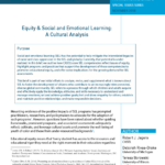 Developmental and Equity Lenses: Critical Criteria for Framing, Implementing, and Assessing SEL