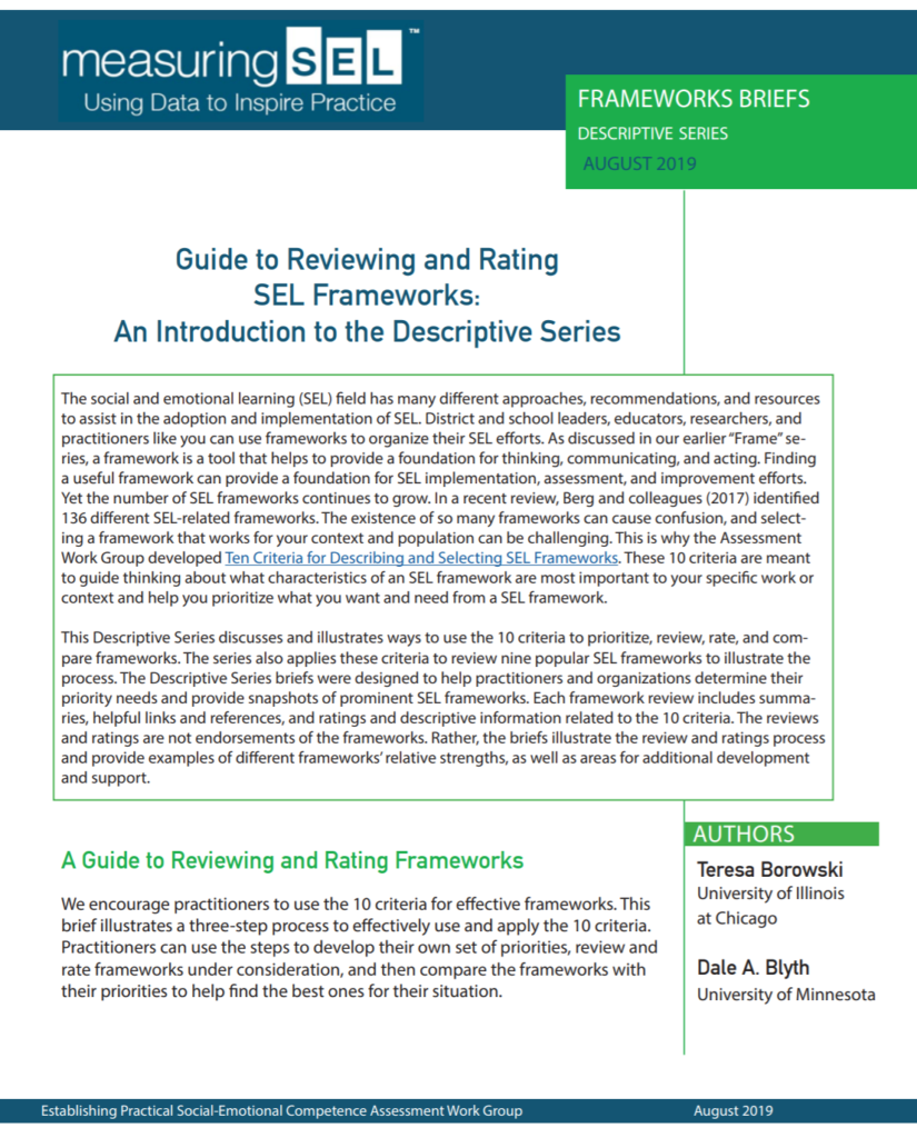 New Help in Finding the Best Framework for Your Work: Check out the New Descriptive Framework Series