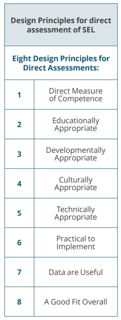 Eight Key Design Principles for Direct Assessment of Student SEL
